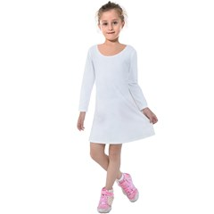 Kids  Long Sleeve Velvet Dress