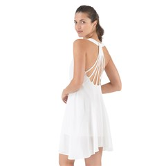Show Some Back Chiffon Dress