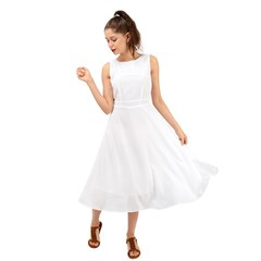 Midi Tie-Back Chiffon Dress