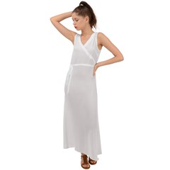 V-Neck Chiffon Maxi Dress