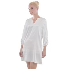 Open Neck Shift Dress