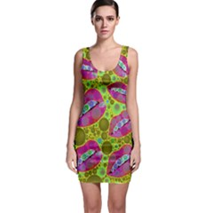 Sassy Lips Bodycon Dress by OCDesignss
