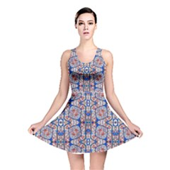 Floral Pattern Digital Collage Reversible Skater Dress by dflcprintsclothing