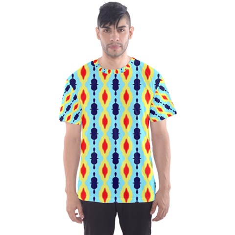 Yellow Chains Pattern Men s Sport Mesh Tee by LalyLauraFLM