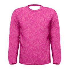 Abstract Stars In Hot Pink Men s Long Sleeve T-shirt by StuffOrSomething