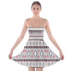 Fancy Tribal Border Pattern Soft Strapless Bra Top Dress by ImpressiveMoments