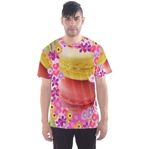 Macaroons And Floral Delights Men s Sport Mesh Tees by LovelyDesigns4U