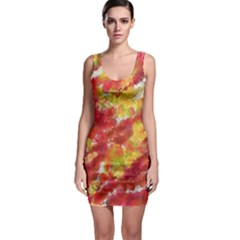 Colorful Splatters                                      Bodycon Dress by LalyLauraFLM