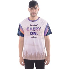 Keep Calm And Carry On Men s Sport Mesh Tee by Contest2492990