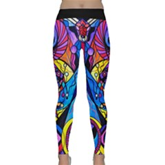 The Time Wielder   Woman s Yoga Leggings  by tealswan
