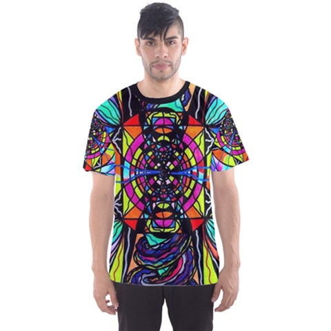 Planetary Vortex - Men s Sport Mesh Tee by tealswan
