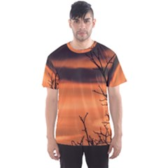 Tree Branches And Sunset Men s Sport Mesh Tee by picsaspassion
