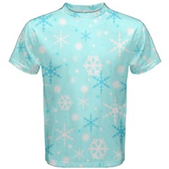 Blue Xmas Pattern Men s Cotton Tee by Valentinaart