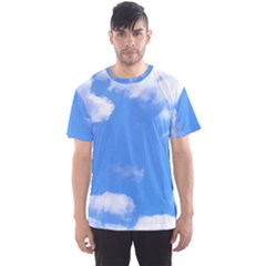 Clouds And Blue Sky Men s Sport Mesh Tee by picsaspassion