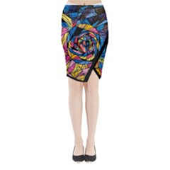 Kindred Soul - Midi Wrap Pencil Skirt by tealswan