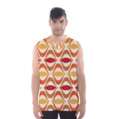 Wave Orange Red Yellow Rainbow Men s Basketball Tank Top by AnjaniArt