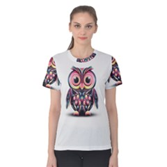Owl Colorful Women s Cotton Tee