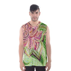 Colorful Design Acrylic Men s Basketball Tank Top by Amaryn4rt