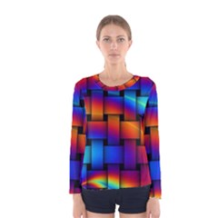 Rainbow Weaving Pattern Women s Long Sleeve Tee