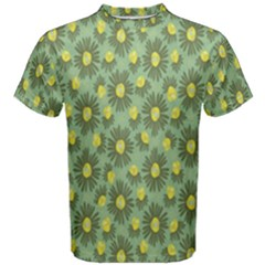 Another Supporting Tulip Flower Floral Yellow Gray Green Men s Cotton Tee