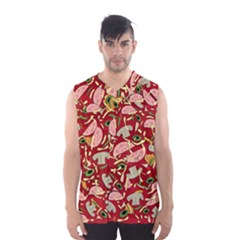 Pizza Pattern Men s Basketball Tank Top by Valentinaart