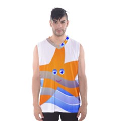 Beach Sea Sea Shell Swimming Men s Basketball Tank Top by Amaryn4rt