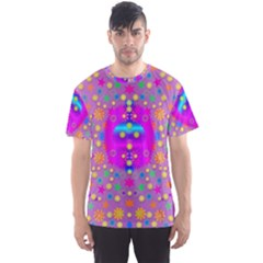 Colors And Wonderful Flowers On A Meadow Men s Sport Mesh Tee by pepitasart