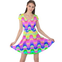 Dna Early Childhood Wave Chevron Woves Rainbow Cap Sleeve Dresses by Alisyart