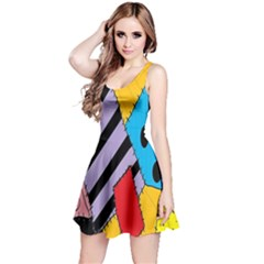 Sally s Patchwork Pattern Reversible Sleeveless Dress