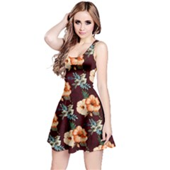 Hawaii3 Floral Sleeveless Skater Dress