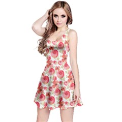 Redrose Floral Sleeveless Skater Dress  by CoolDesigns
