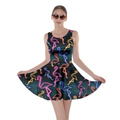 Neon Flamingo Flamingo V2 Skater Dress by CoolDesigns