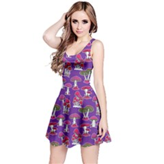 Purple Mushrooms Pattern Sleeveless Dress  by CoolDesigns
