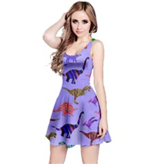 Colorful Dino Reversible Sleeveless Dress