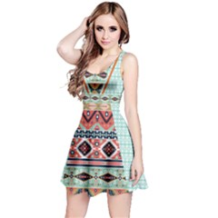 Mint Tribal Sleeveless Dress by CoolDesigns