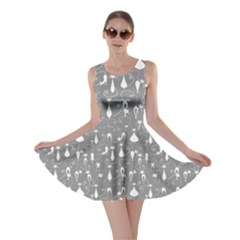 Light Gray Lovely Cats Pattern Skater Dress by CoolDesigns