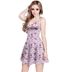 Purple Sex Pattern Sleeveless Dress