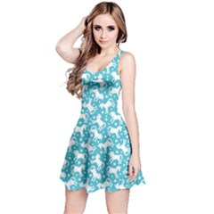 Mint 2 Unicorn Seamless Sleeveless Skater Dress
