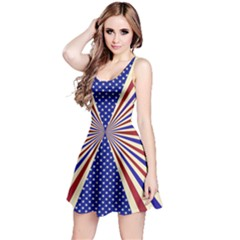 Us Flag Reversible Sleeveless Dress