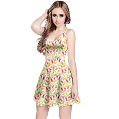 Colorful Pattern With Easter Rabbits Sleeveless Dress