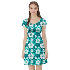 Mint Short Sleeve Skater Dress by CoolDesigns