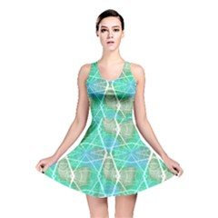 Mint Neon Laser Beams Skater Dress by CoolDesigns