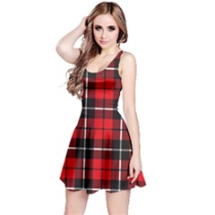 Xmas Plaid 2 Reversible Sleeveless Dress by CoolDesigns