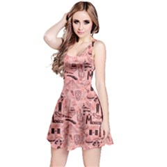 Pink Fun Sketch Mexico Pattern Short Sleeve Skater Dress
