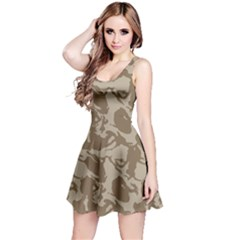 Initial Camouflage Brown Reversible Sleeveless Dress