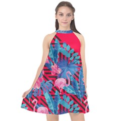 Sakura Halter Neckline Chiffon Dress  by Contest2284792