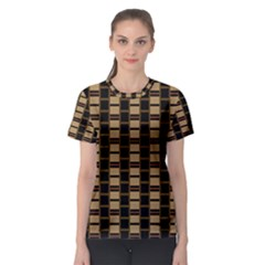 Geometric Shapes Plaid Line Women s Sport Mesh Tee