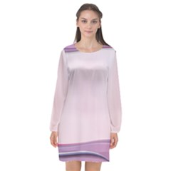 Background Image Greeting Card Heart Long Sleeve Chiffon Shift Dress  by Nexatart