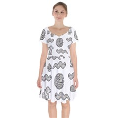 Aztecs Pattern Short Sleeve Bardot Dress by Valentinaart