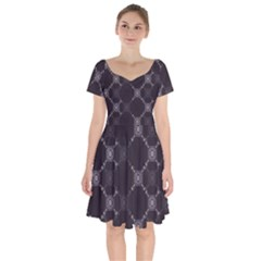 Abstract Seamless Pattern Background Short Sleeve Bardot Dress